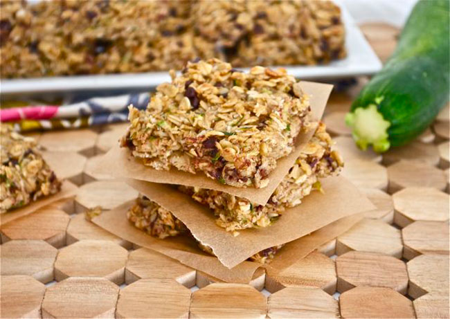 Oatmeal Zucchini Snack Bars from Flavor the Moments