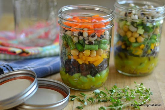 Make Ahead Lunch in a Mason Jar via The View from Great Island