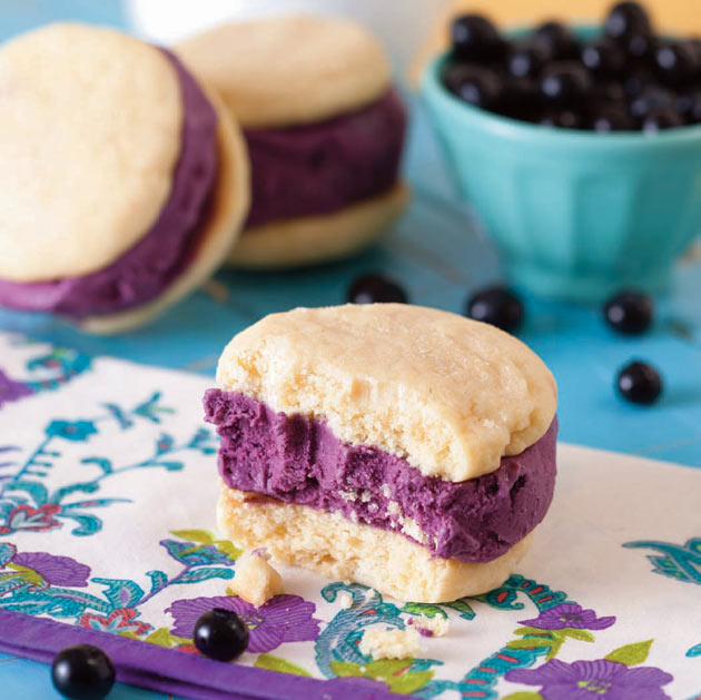 Lemon Blueberry Ice Cream Sandwich from Cookies & Cream Cookbook
