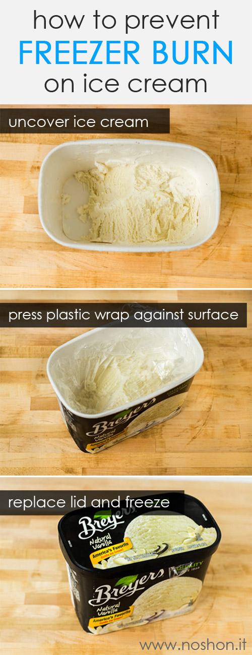 How to prevent freezer burn on ice cream