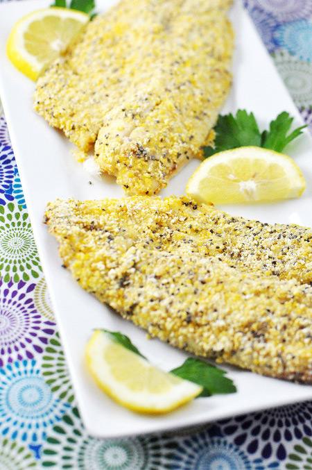 Cornmeal Chia Seed Tilapia