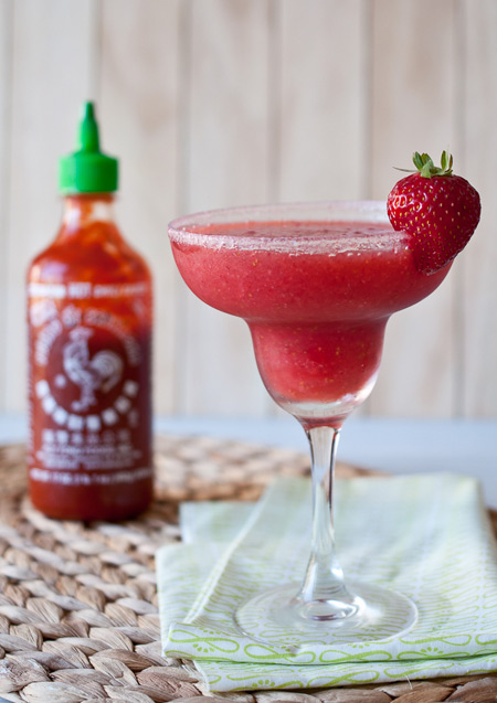 Strawberry Sriracha Margaritas on NoshOnIt