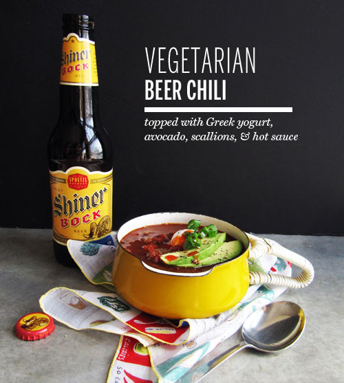 Vegetarian Beer Chili from Take a Megabite