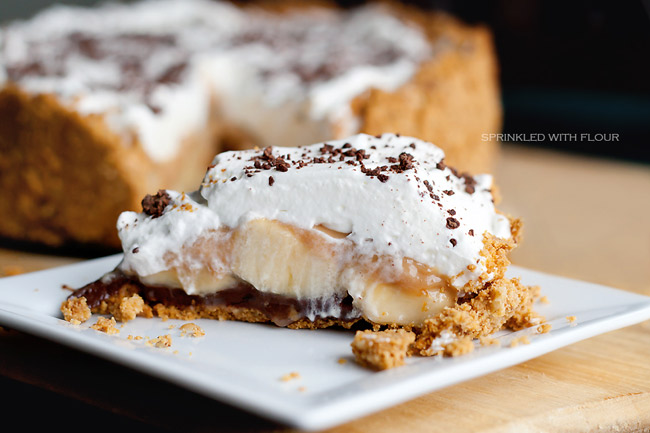 Banoffee Surprise Pie by Sprinkled with Flour on NoshOnIt