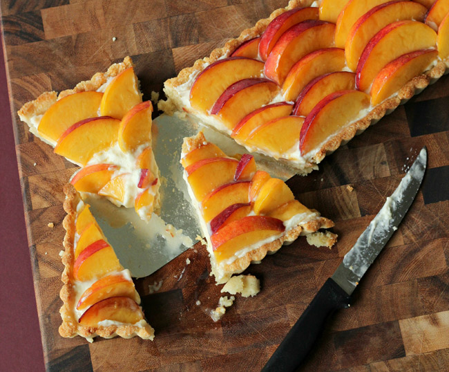 Gluten Free Peach Amaretto Tart from Baking a Moment on NoshOnIt