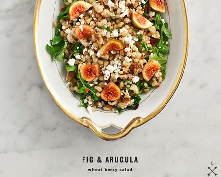 Fig and Arugula Wheat Berry Salad