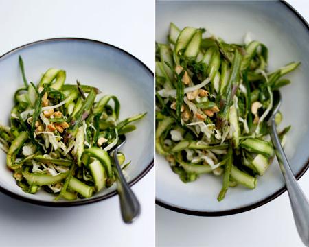 Asparagus Salad with Chili Sesame Lime Dressing