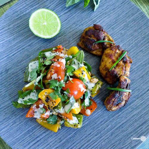 Cambodian Capsicum Salad with Sesame Dressing