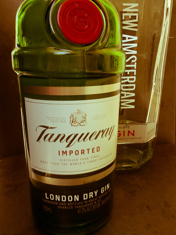 Types of gin, Tanqueray and New Amsteradam